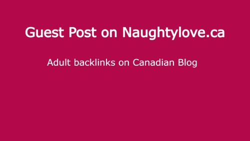 guest post on naughtylove